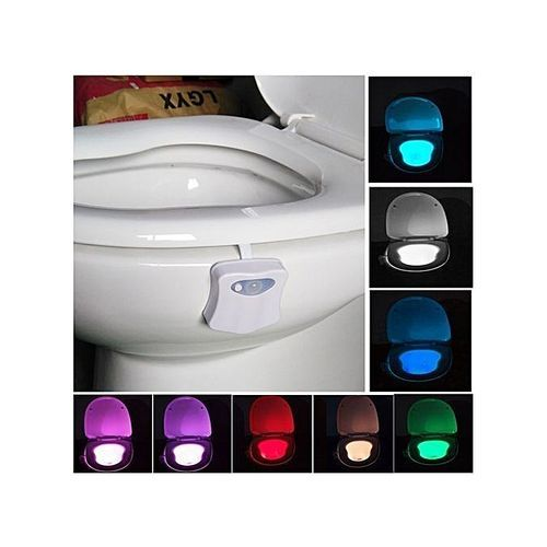 8 Colors Indoor Lighting Night Lights Motion Sensor LED Toilet Seat Cover Light-bowl Lamp