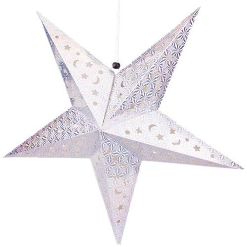 30cm Christmas Laser Star Lampshade Hanging Pentagram Ornaments