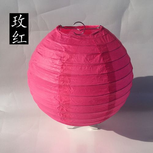 4-6-8-10-12-14-16 Inch Silver Paper Lantern Chinese Round