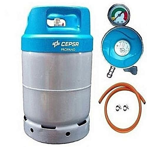 Cepsa 12kg Gas Cylinder,Regulator Blue Cap