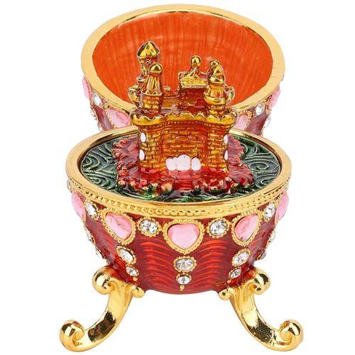 Plating Diamonds Enamel Painted Metal Crafts Trinket Box Home Decor Ornaments