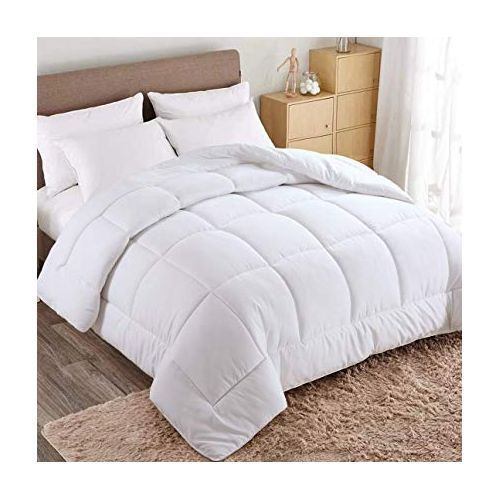 Duvet,Bed Sheet With 4 Pillowcase-White