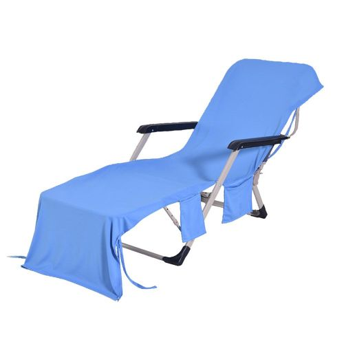 Lounger Beach Towel Fiber Cold Towel Quick Dry Beach Chair Towel Beach Towel Blue