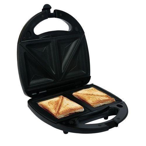 Electric Breakfast Two Bread Slice Toaster Sandwich Maker Kitchen Appliance