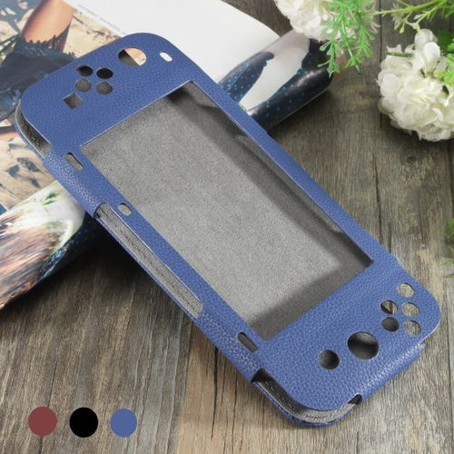 For Nintendo Switch 3 Colors Luxury Style PU Leather Anti-Slip Protective Case Cover Skin Pouch Bag 6.2''Game Console Case Cover