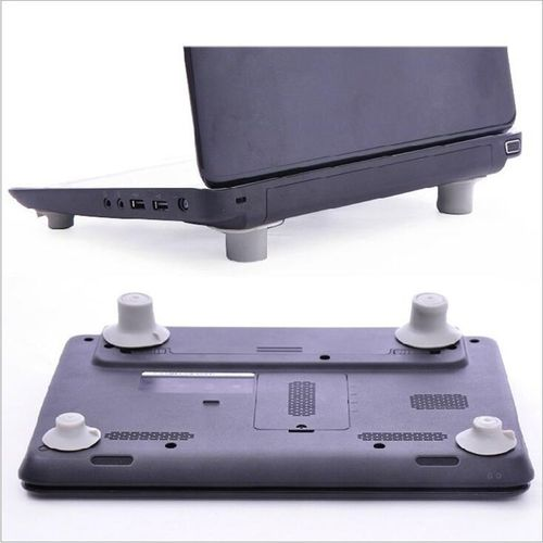 4Pcs Skidproof Notebook Antiskid Cooling Laptop Ball Cool Feet Leg Stand Pad Gray
