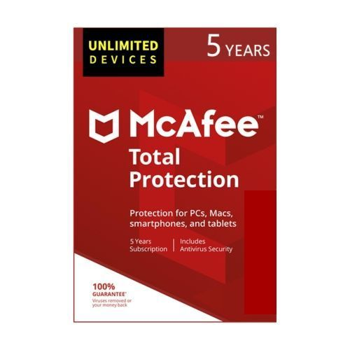 McAfee Total Protection 2019 Unlimited 5 Years Subscription