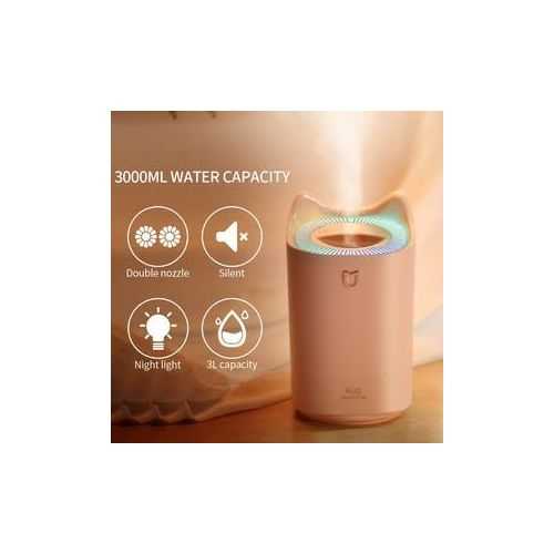 3L Humidifier Aroma Diffuser Purifier K7 Dual Cool Mist