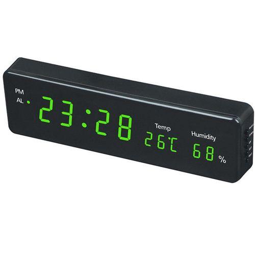 Digital Wall Clock Big LED Time Calendar Temperature Humidity Display Desk Table Clocks Electronic LED Wall Watch Decor EU Plug HKS