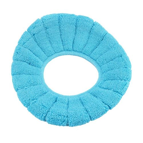 Home-O Rings Bathroom Winter Toilet Seat Candy Color Thicken Warm Soft Toilet Cover*Blue