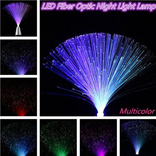 Multicolor LED Fiber Optic Light Lamp Holiday Wedding Home Decoration Lamp
