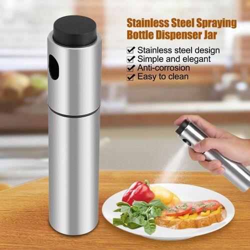SHANYU Stainless Steel Olive Oil Spraying Bottle Dispenser Sprayer Can Jar Kitchen Barbecue Tool