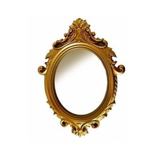 Vintage Gold Oval Large Mirror