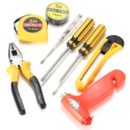 9pcs Mini Home Auto Car Repair Tool Set Combination Hand Emergency Tool Kit New