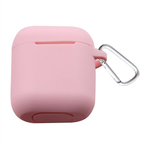Bluetooth Thicken Cover Anti-drop Dust-proof Buckle Bluetooth Earphone Silicone Case For Airpods / Apple (Pink)