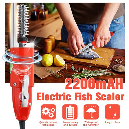Electric Fish Scale Remover Cleaner 120W Scaler Waterproof Scraper Peeler Tool