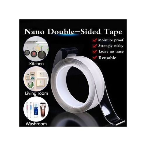 Nano Adhesive Tape, Washable & Reusable Double Sided Tape