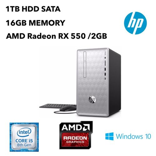 Pavilion 590-P0057C Core™ I5-8400 2.8GHz 1TB 16GB DVD-RW BT WIN10 AMD RX 550 2048MB Keyboard Mouse SILVER.