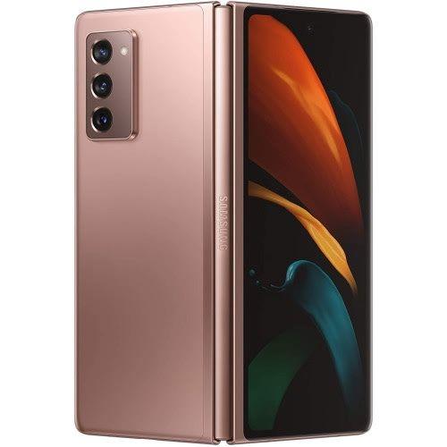 Galaxy Z Fold2 5G, 7.6-Inch (12GB RAM, 256GB ROM), (12MP + 12MP + 12MP) + 10MP Nano SIM - Mystic Bronze