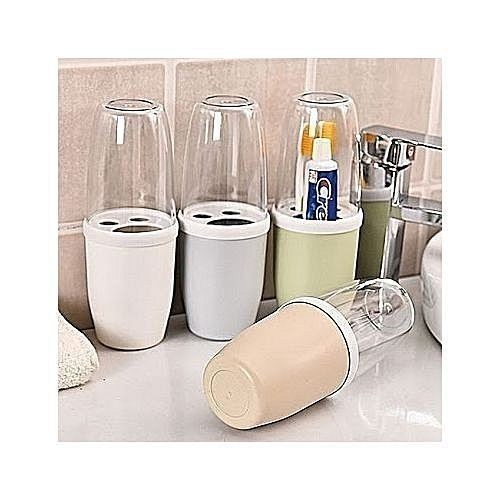Toothbrush Holder With Cover.2pcs