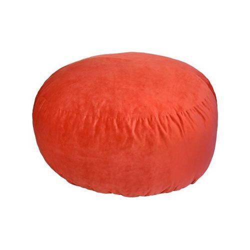 Round Bean Bag Pouf - Orange (Delivery To Lagos Only)