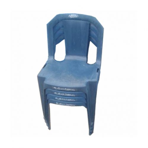 Strong Stackable Plastic Chair - Blue