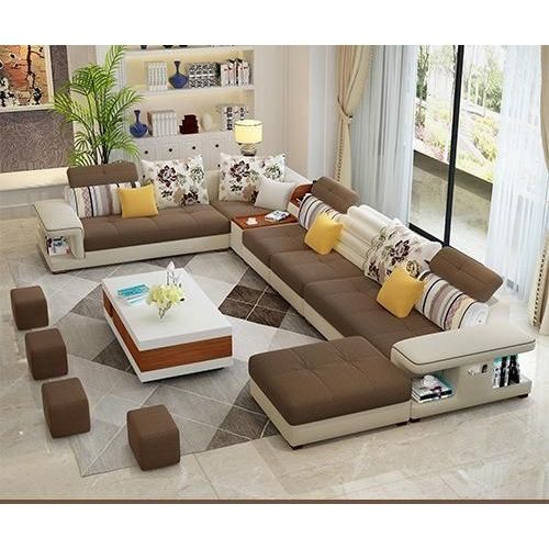 Venzra Sectional Set With To-match Table And Mini Ottomans