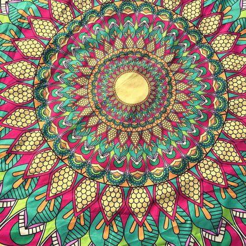 Round Printing Hippie Tapestry Beach Picnic Throw Yoga Mat Towel Blanket