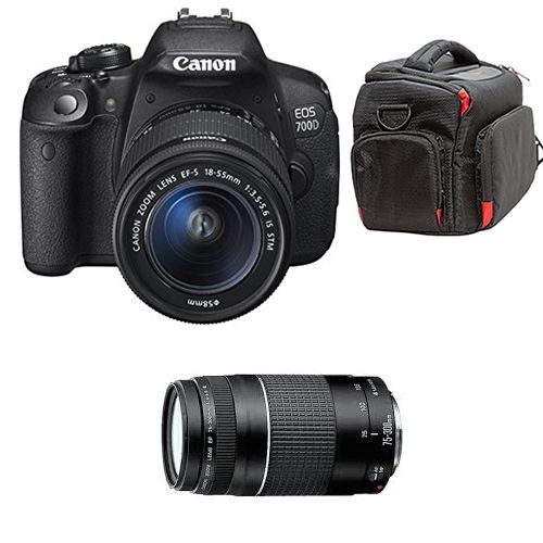 EOS 700D/Rebel T5i + EF-S 18-55mm And 75-300mm Plus Carrier Bag