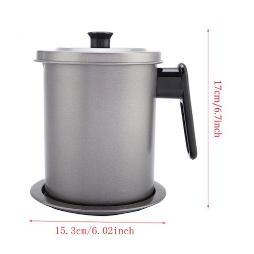 Stainless Steel Anti-rust Durable Filter Drainer With Cover For Oil Kitchen Tool