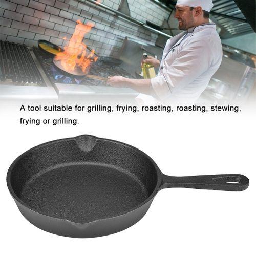 16-20cm Vintage Cast Iron Skillet Frying Pan Burnt Non-stick