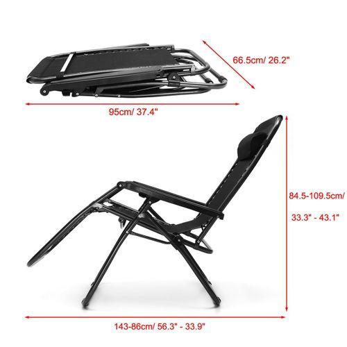 Gardeon Zero Gravity Portable Reclining Lounge Folding Outdoor Camping Chair