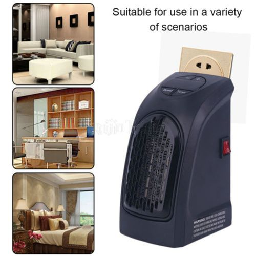 Handy Wall-Outlet Heater Electric Air Radiator Warmer Blower Heater Fan 350W