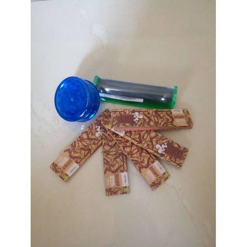 Weed Grinder + Weed Roller Machine + 5 Booklets Of Bros Brown Rolling Smoking Papers