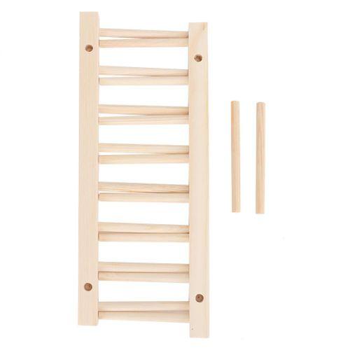 7 Grid Dry Sink Drainer Holder Wooden Dish Stand Plate Rack Shelves Kitchen Utensils