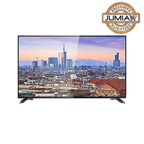 43 Inches Full HD LED TV - Black + Free Wall Bracket + Power Guard