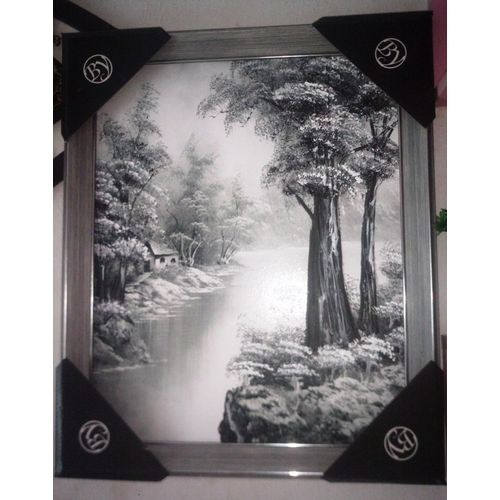 Nice Wooden Wall Art Frame - Black And White