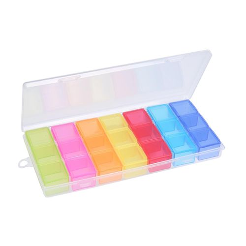 7 Day 3 Times In-a-day Rainbow Pill Box Case Organizer