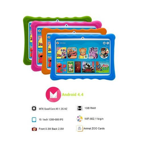 """K11 Kids Tablet-Dual Sim-10.1"""" -1GB RAM-16GB ROM Plus Free Pouch Inside And Gifts"""
