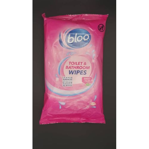 BLOO FLOWERS TOILET WIPES 36'S SWEET TULIP