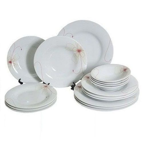 Premium 16 Piece Dinner Plate Set - Jasmine