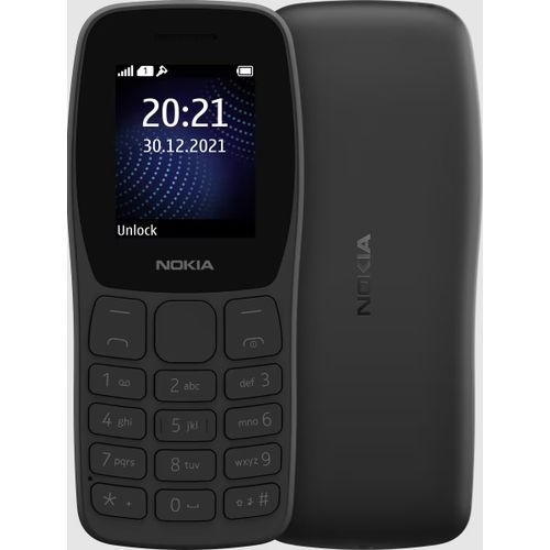 105 (2019) Dual SIM, FM Radio, TORCH, 800mAh Battery - Black