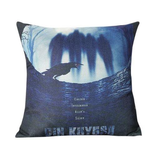 Houseworkhu Halloween Square Pillow Cover Cushion Case Pillowcase Zipper Closure - Multicolor