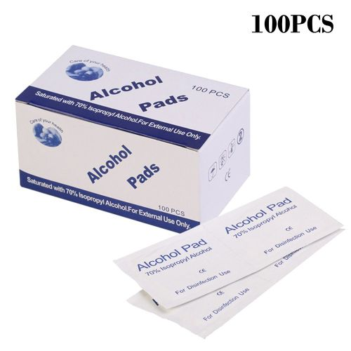 Disposable Alcohol Swabs Not Sensitive To Skin Low Bacteria Clean 100 Pcs White