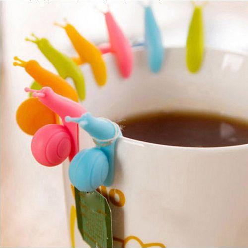 Snail Wineglass Label For Tea Bag Hanging Mug Cup Clip Random