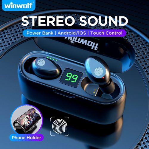 F9 Wireless Bluetooth Headset Earphone With Power Display