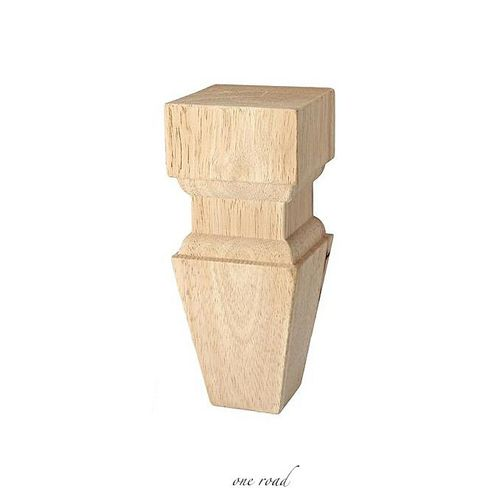 4Pcs European Style Solid Wood Carved Furniture Foot Legs 150X60Mm