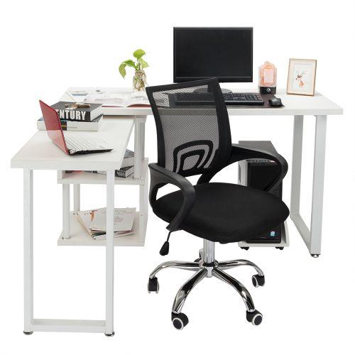 Ergonomic Mesh Computer Office Chair Swivel Metal Base Black