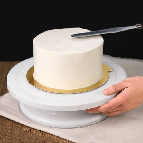Plastic Round Cake Stand Turntable Rotating Cake Decorating Turntable
