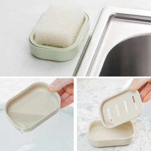 Mini Soap Dish Box Case Holder Container Draining Home Bathroom Shower Travel